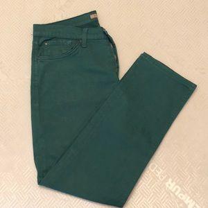 Men's green cotton pants
